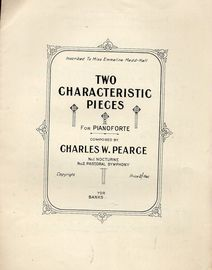 Two Characteristic Pieces for Pianoforte - Inscribed to Miss Emmeline Medd-Hall
