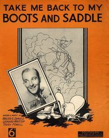 Take me Back to my Boots and Saddle: Bing Crosby, Sydney Kyte and his Piccadilly Hotel Band, Ambrose, Harry torrani