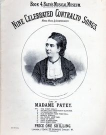 Nine Celebrated Contralto Songs - Book 4 Bath's Musical Museum