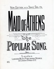 Maid of Athens - The Popular Song