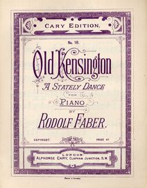 Old Kensington - A Stately Dance for Piano