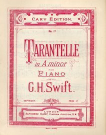 Tarantelle in A minor - Cary Edition No. 17