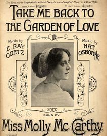 Take me back to the garden of love -  Song in the key of B flat major for Low voice - Sung by Miss Molly McCarthy