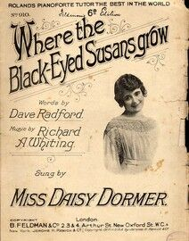 Where The Black Eyed Susans Grow - Song -  Miss Daisy Dormer