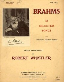 Brahms - 30 Selected Songs for High Voice - In English and German - Featuring Brahms