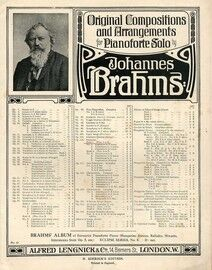 Brahms - Fantasias for Piano Solo - Op. 116, Book 1 - Featuring Brahms