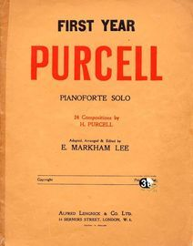 First Year Purcell - For Pianoforte Solo - 24 Compositions