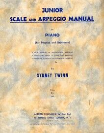 Junior Scale and Arpeggio Manual for Piano - A New Method of Presentation Ensuring a Thorough Grasp of Scale and Arpeggio Formations, Together with Re
