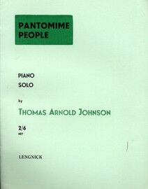 Pantomime People - for Piano