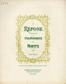 Repose (Wiegenlied) - For the Pianoforte - Op. 97