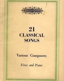 21 Classical Songs for Voice and Piano