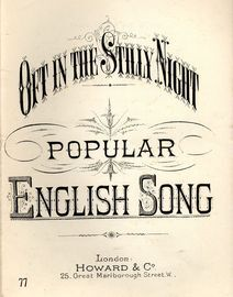 Oft in the Stilly Night - Popular English Song - Howard & Co Edition No. 77