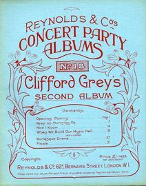 Clifford Grey's Second Album - Reynolds and Co's Concert Party Albums No. 18
