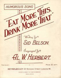Eat More This, Drink More That - Humorous Song