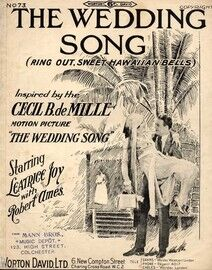 The Wedding Song (Ring Our Sweet Hawaiian Bells) - Inspired by the Cecil B. de Mill motion picture