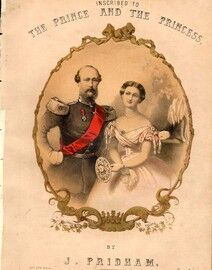 Souvenir - Inscribed to The Prince and the Princess - Featuring Christian and Helena Married in 1866 - German Prince Christian of Schleswig and Holste