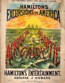 Across The Atlantic Galop - Composed Expressly for Hamilton's Entertainment (Excursions to America)