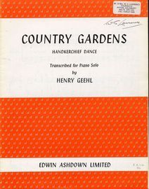 Country Gardens (Handkerchief Dance) - Piano Solo - transcribed from the Morris Dane Tunes by Cecil Sharp