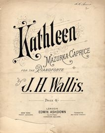 Kathleen - Mazurka Caprice for the Pianoforte