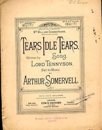 Tears Idle Tears - Song - No. 1 in D minor - Dedicated to and Sung by Mr William Shakespeare
