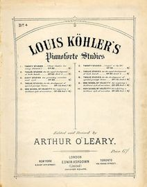 Twelve Studies - Op. 63, Book 2, No.'s 8 - 12 - For Piano - Book 4 from Louis Kohler's Pianoforte studies series
