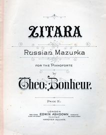 Zitara - Russian Mazurka for the Pianoforte