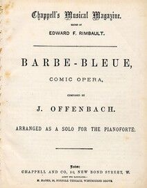 Barbe Bleue - Comic Opera - Arranged for Solo Piano