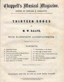 Chappell's Musical Magazine - A Collection of 4 Magazines, each containing songs with piano accompaniments