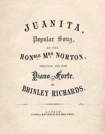 Juanita - Popular Song - Arranged for the Pianoforte