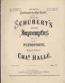 Schubert's four Impromptus for The Pianoforte - Op. 142, No. 2 in A Flat