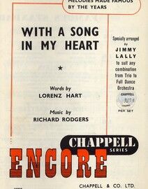 With a Song in my Heart -  Encore Famous Chappell Series - Specially Arranged by Jimmy Lally to Suit any Combination From Trio to Full Dance Orchestra