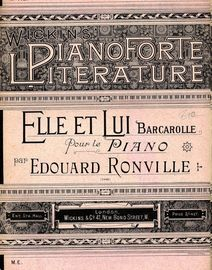 Elle et Lui - Barcarolle pour le Piano - Wickins Pianoforte Literature Series No. 415