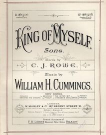 King of Myself - Song in key of E flat 0 Morley & Co edition no 1560