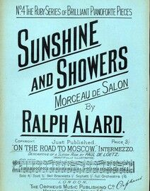 Sunshine and Showers (Morceau de Salon) - No. 4 from 'The Ruby Series of Brilliant Pianoforte Pieces for Concert or Drawing Room'