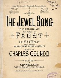 The Jewel Song - Song from the opera Faust - In the key of E Major for high voice