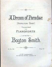 A Dream of Paradise (Hamilton Gray) - Transcribed fo the Pianoforte