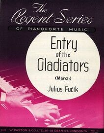 Entry of the Gladiators (March) - For Piano