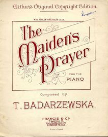 The Maiden's Prayer - For Piano