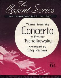 Theme from the Concerto in B flat minor - From the Regen Series of Pianoforte Music