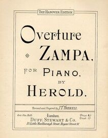 Zampa Overture - For Piano - The Hanover Edition