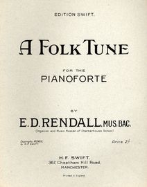 A Folk Tune - For the Pianoforte - Edition Swift