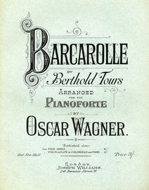 Barcarolle - For Pianoforte