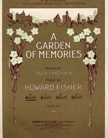 A Garden of Memories - Song - In the key of B flat major for lower voice