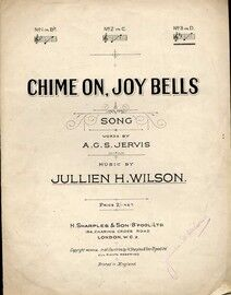 Chime On, Joy Bells - Song in the Key of D Major for High Voice