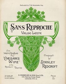 Sans Reproche - Valse Lente from Somerset Maugham's Play
