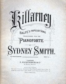 Killarney (Balfe\'s Popular Song) arranged for  Piano Solo
