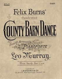 County Barn Dance - Easily arranged for the Pianoforte