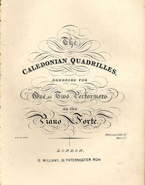 The Caledonian Quadrilles - Arranged for one or two performers