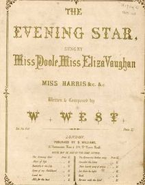 The Evening Star - Song - sung by Miss Poole & Miss Eliza Vaughan