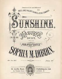 Sunshine - Mazurka Duet for the Pianoforte - Composed for and Dedicated to Miss Jane Phillips and Miss Jessie Edwards